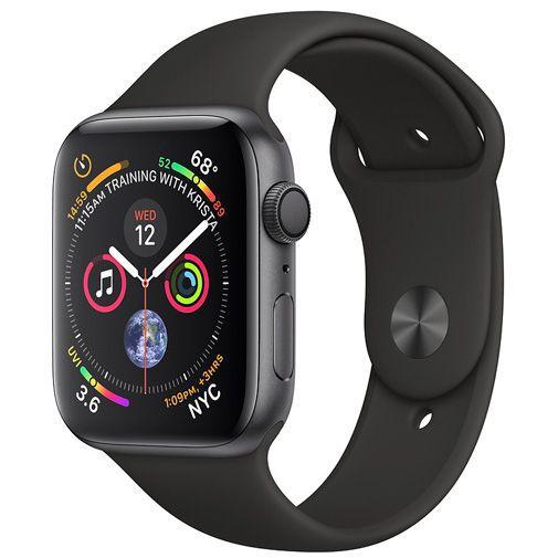 Productafbeelding van de Apple Watch Series 4 Sport 44mm Grey Aluminium (Black Silicone Strap)