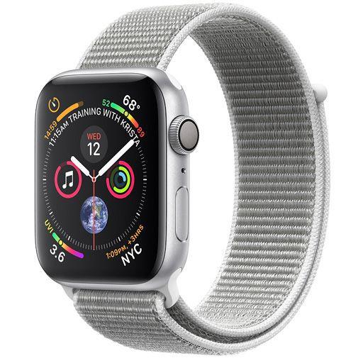 Productafbeelding van de Apple Watch Series 4 Sport 44mm Silver Aluminium (Grey Woven Nylon Strap)