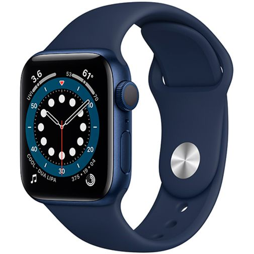 Productafbeelding van de Apple Watch Series 6 Sport 40mm Blue (Blue Silicone Strap)