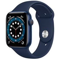 Productafbeelding van de Apple Watch Series 6 Sport 44mm Blue (Blue Silicone Strap)