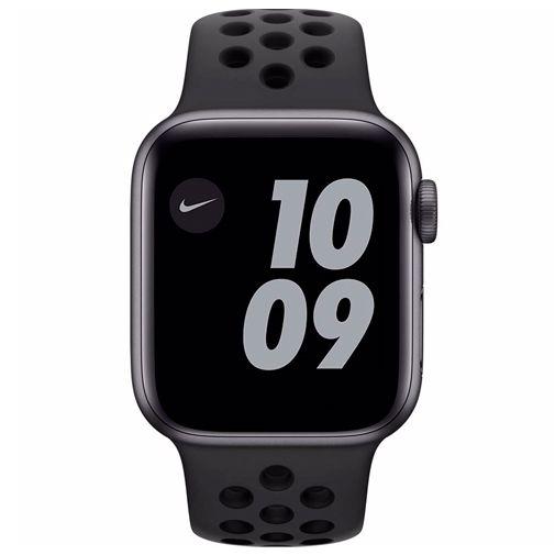 Productafbeelding van de Apple Watch Series 6 Sport Nike 40mm Grijs Aluminium Zwarte Siliconen Band