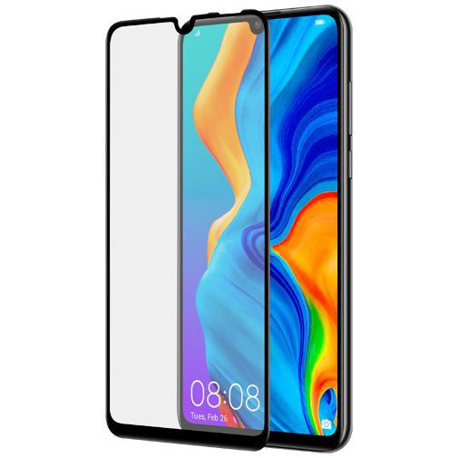 Productafbeelding van de Azuri Curved Tempered Glass Screenprotector Black Huawei P30 Lite/P30 Lite New Edition