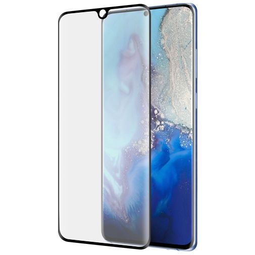 Produktimage des Azuri Curved gehärtetes Glas Displayschutzfolie Schwarz Samsung Galaxy S20 Ultra