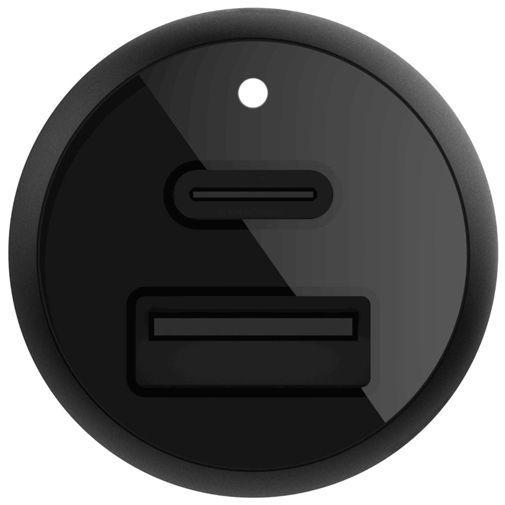 Productafbeelding van de Belkin Autolader USB + USB-C 18W Black