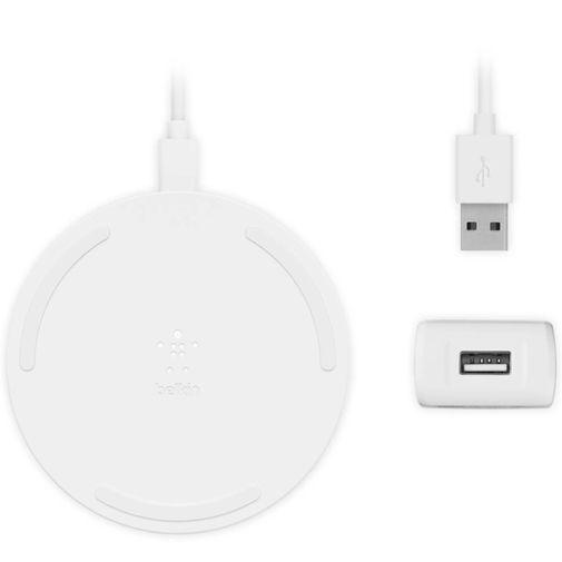 Productafbeelding van de Belkin Boost Charge Draadloze Snellader 10W Wit + MicroUSB