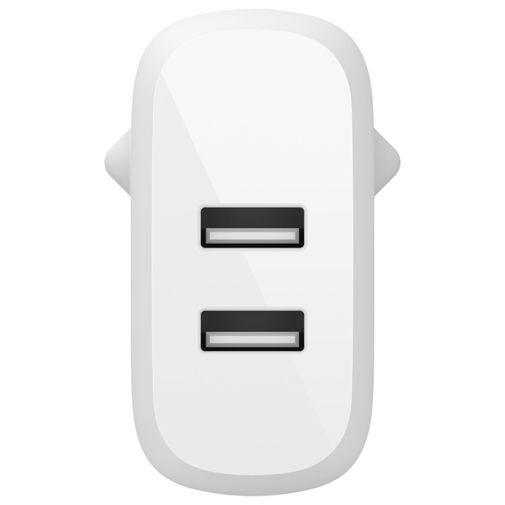 Productafbeelding van de Belkin Boost Charge Dual USB Snellader + Lightning Kabel 24W Wit