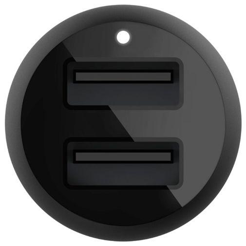 Productafbeelding van de Belkin Boost Charge Dual USB Snelle Autolader 12W + Lightning Kabel Zwart