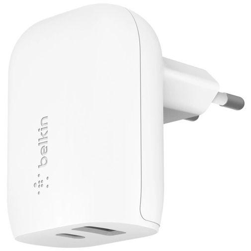 Productafbeelding van de Belkin Boost Charge Dual USB USB-C Snellader 32W Wit