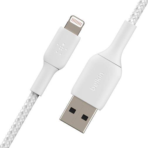 Productafbeelding van de Belkin Boost Charge Lightning Gevlochten Kabel 0,15 Meter Wit