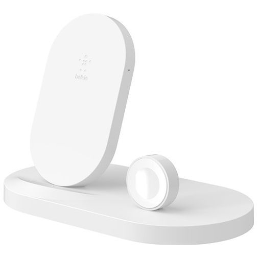 Productafbeelding van de Belkin Draadloze Snellader 7,5W + Apple Watch Stand White