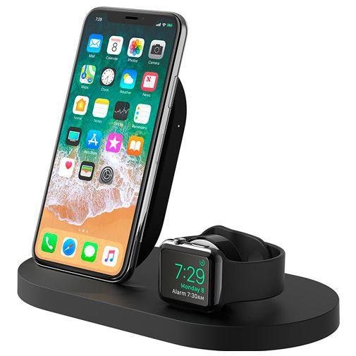 Produktimage des Belkin Kabelloses Schnellladegerät 7,5W + Apple Watch Stand Schwarz