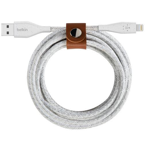Productafbeelding van de Belkin Duratek Plus Lightning Gevlochten Kabel 1,2 Meter Wit