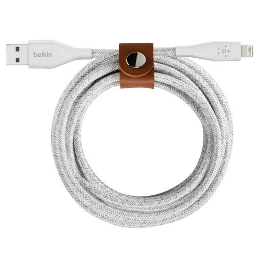Productafbeelding van de Belkin DuraTek Plus Lightning Gevlochten Kabel 3 Meter Zwart