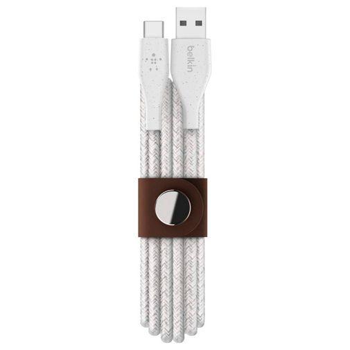 Productafbeelding van de Belkin DuraTek Plus USB-C Gevlochten Kabel 1,2 Meter Wit