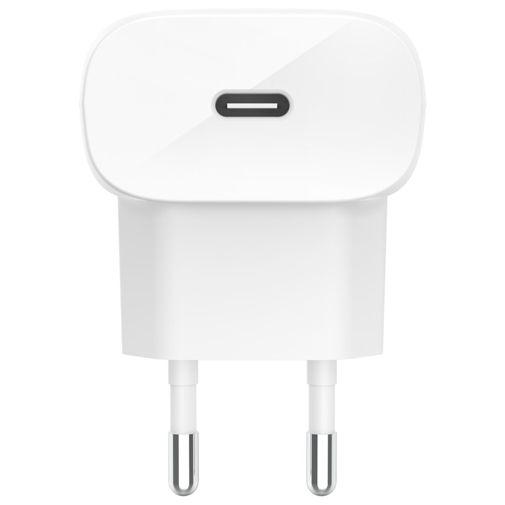 Productafbeelding van de Belkin USB-C Snellader 20W + Lightning Kabel Wit
