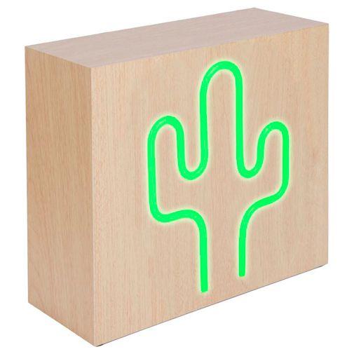 Productafbeelding van de BigBen Neon Bluetooth Speaker & Draadloze Oplader Cactus