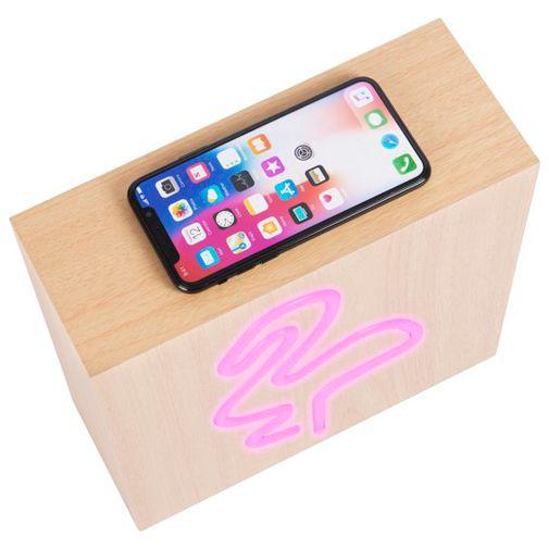 Productafbeelding van de BigBen Neon Bluetooth Speaker & Draadloze Oplader Flamingo