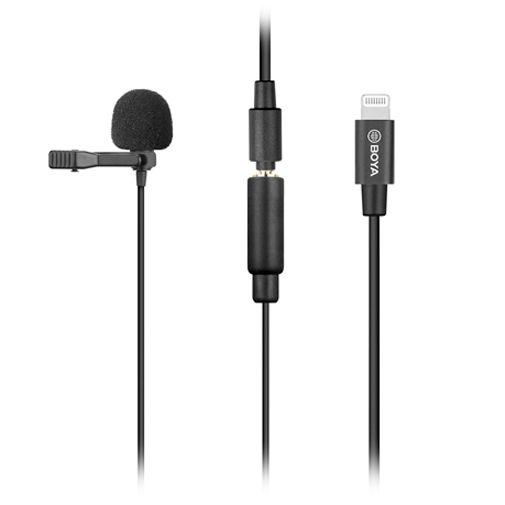 Productafbeelding van de Boya BY-M2 Lightning Lavalier Microfoon Zwart