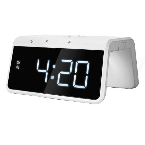 Productafbeelding van de Caliber HCG019QI-A Draadloze Snellader 10W + Wekker Wit