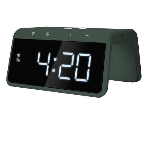 Productafbeelding van de Caliber HCG019QI Draadloze Snellader 10W + Wekker Groen