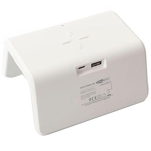 Productafbeelding van de Caliber HCG019QI Draadloze Snellader 10W + Wekker Wit