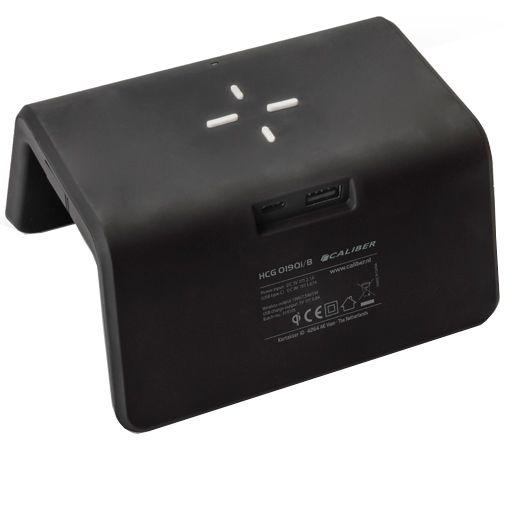 Productafbeelding van de Caliber HCG019QI Draadloze Snellader 10W + Wekker Zwart