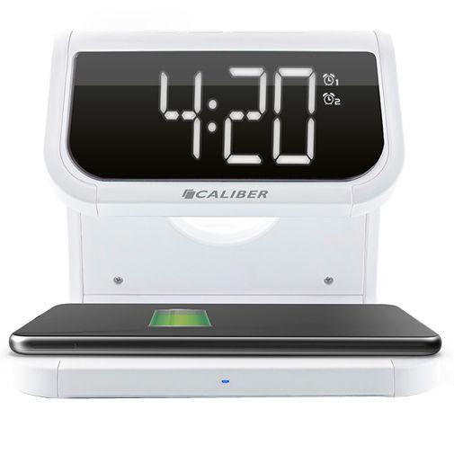 Productafbeelding van de Caliber HCG020QI Draadloze Snellader 10W + Wekker Wit