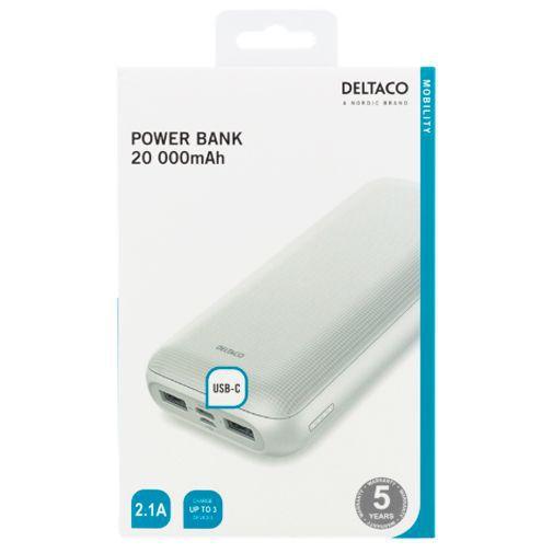 Produktimage des Deltaco PB-1066 Powerbank 20.000mAh USB-C Weiß
