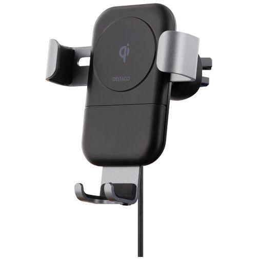 Produktimage des Deltaco QI-1030 Qi Kabelloses Schnellladegerät/Autohalterung 10W Schwarz