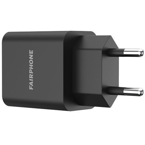Productafbeelding van de Fairphone Adapter Quick Charge 3.0 Black