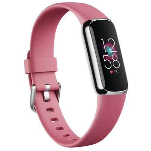 Productafbeelding van de Fitbit Luxe Zilver Roze Band
