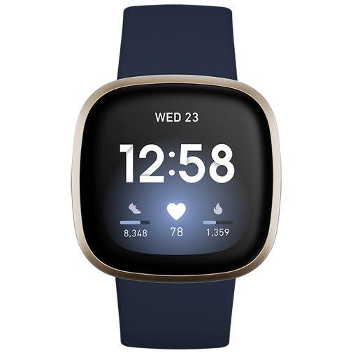 Productafbeelding van de Fitbit Versa 3 Gold/Blue