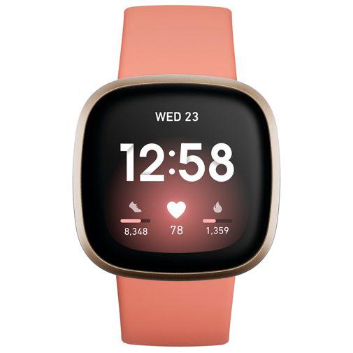 Productafbeelding van de Fitbit Versa 3 Gold/Pink