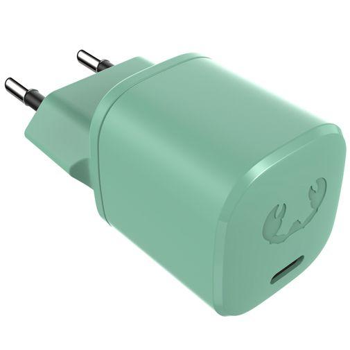 Productafbeelding van de Fresh 'n Rebel Mini USB-C Snellader 18W + Lightning Kabel Groen
