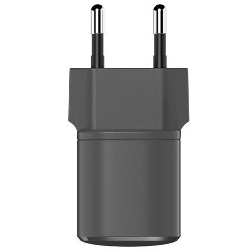 Productafbeelding van de Fresh 'n Rebel Mini USB-C Snellader 18W + Lightning Kabel Zwart