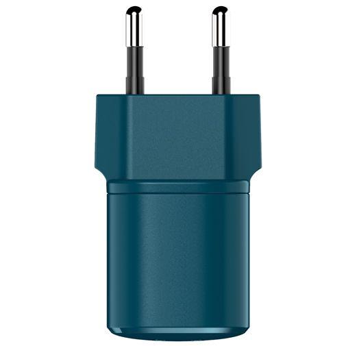 Productafbeelding van de Fresh 'n Rebel Mini USB-C Snellader 18W + USB-C Kabel Blauw