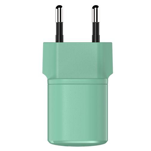 Productafbeelding van de Fresh 'n Rebel Mini USB-C Snellader 18W + USB-C Kabel Groen
