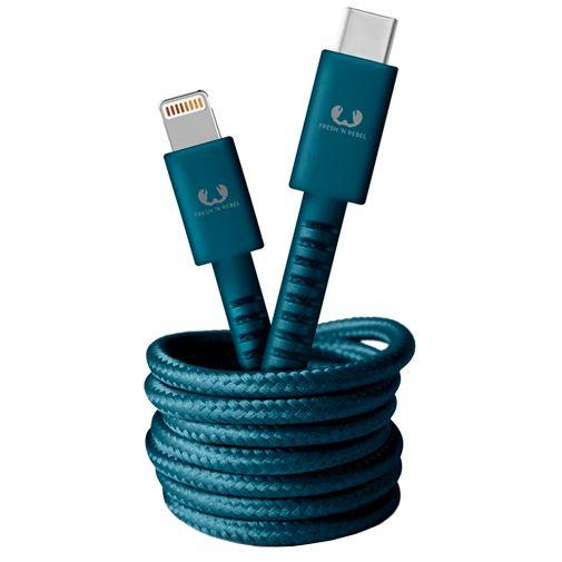 Productafbeelding van de Fresh 'n Rebel USB-C naar Lightning Kabel 1,5 meter Blue