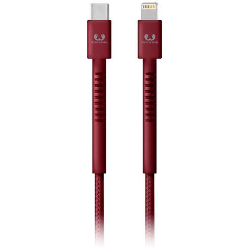 Productafbeelding van de Fresh 'n Rebel USB-C naar Lightning Kabel 1,5 meter Red
