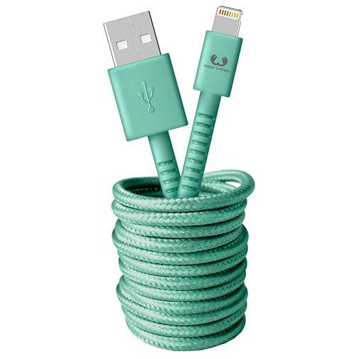 Productafbeelding van de Fresh 'n Rebel USB naar Lightning Kabel 3 meter Green