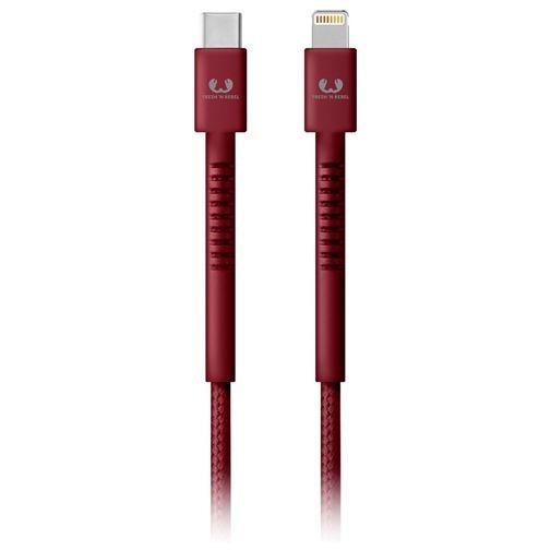 Productafbeelding van de Fresh 'n Rebel USB-C naar Lightning Kabel 3 meter Red
