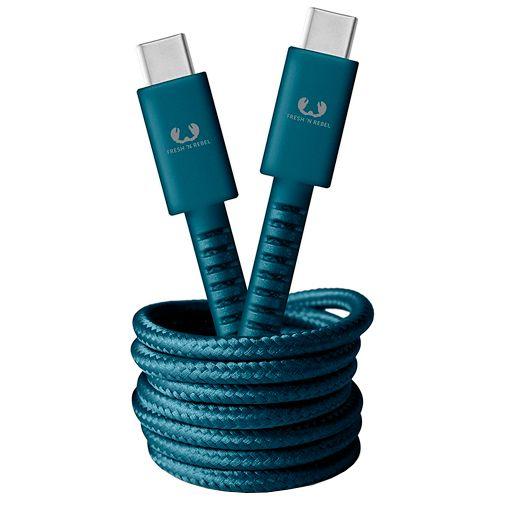 Productafbeelding van de Fresh 'n Rebel USB-C naar USB-C Kabel 1,5 meter Blue