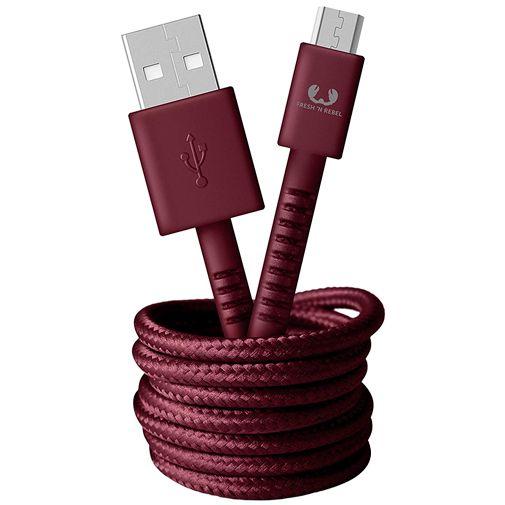 Productafbeelding van de Fresh 'n Rebel USB naar Micro-USB Kabel 1,5 meter Red