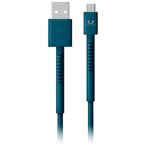 Productafbeelding van de Fresh 'n Rebel USB naar Micro-USB Kabel 3 meter Blue