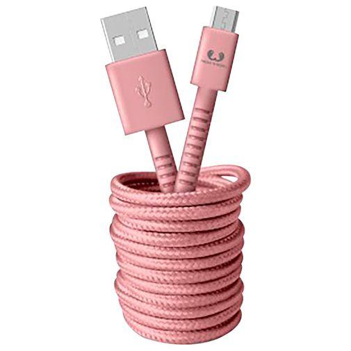 Productafbeelding van de Fresh 'n Rebel USB naar Micro-USB Kabel 3 meter Pink