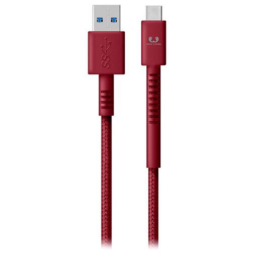 Produktimage des Fresh 'n Rebel USB auf USB-C Kabel 1,5 Meter Rot