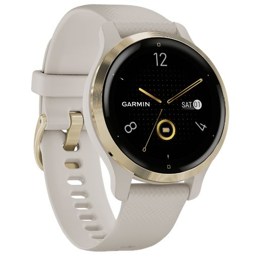 Productafbeelding van de Garmin Venu 2S Goud Beige Band