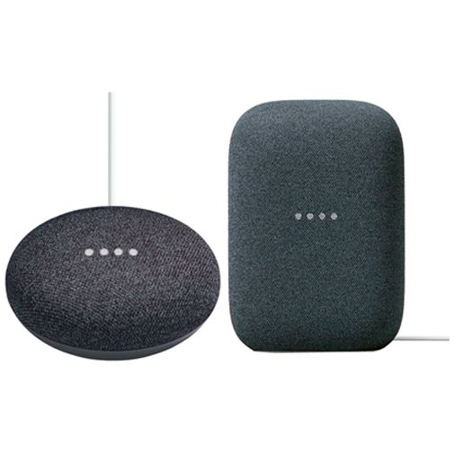 Productafbeelding van de Google Nest Audio + Google Nest Mini Zwart