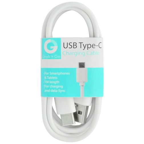 Productafbeelding van de Grab 'n Go Datakabel USB-C 1 Meter White
