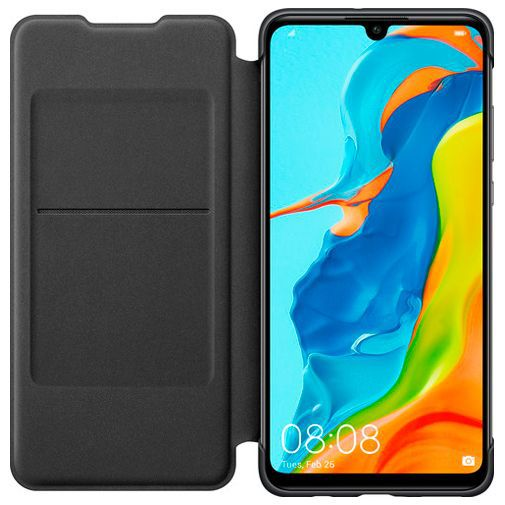 Productafbeelding van de Huawei Wallet Cover Black P30 Lite/P30 Lite New Edition